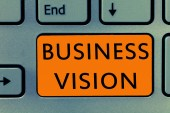 Conceptual hand writing showing Business Vision. Business photo text grow your business in the future based on your goals
