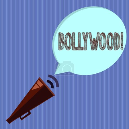 Word writing text Bollywood. Business concept for ...