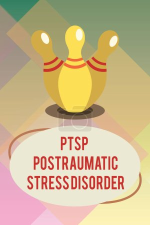 Photo for Handwriting text Ptsd Postraumatic Stress Disorder. Concept meaning Serious mental condition Emotional Stress. - Royalty Free Image