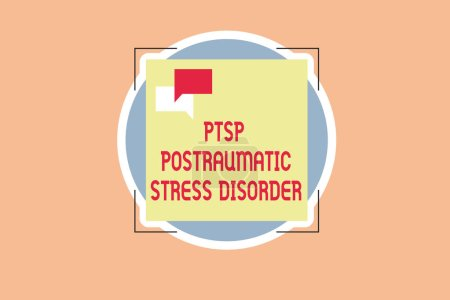 Photo for Writing note showing Ptsd Postraumatic Stress Disorder. Business photo showcasing Serious mental condition Emotional Stress. - Royalty Free Image