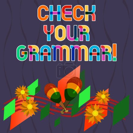 Word writing text Check Your Grammar. Business con...