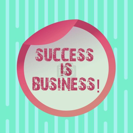 Photo pour Texte d'écriture Word Le succès est une affaire. Concept d'affaires pour les récompenses monétaires définies ayant un impact positif d'autres Emballage de bouteille Couvercle vide Conteneur en carton Couvercle d'étanchéité facile à ouvrir - image libre de droit