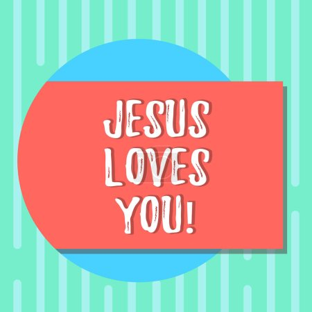 Word writing text Jesus Loves