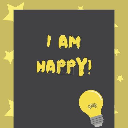 Photo pour Ecriture conceptuelle montrant que je suis heureux. Texte photo d'affaires Avoir une vie remplie d'amour bonheur au travail - image libre de droit