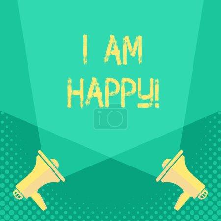 Photo pour Texte manuscrit Je suis heureux. Sens du concept Avoir une vie remplie d'amour un bon travail le bonheur - image libre de droit