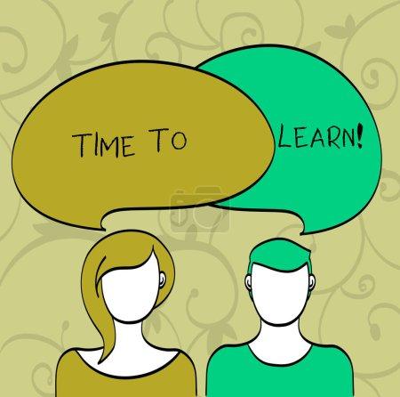 Photo pour Note d'écriture montrant le temps d'apprendre. Présentation de photos d'affaires Obtenir de nouvelles connaissances ou compétences Croissance scolaire ou professionnelle - image libre de droit