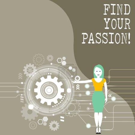 Photo pour Écriture conceptuelle montrant Trouvez votre passion. Concept signifiant encourager montrer trouver leur rêve - image libre de droit