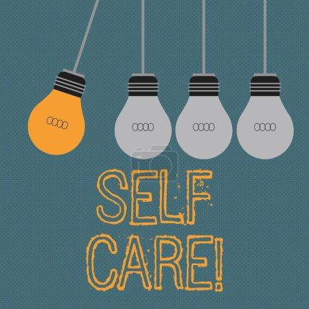Escribiendo una nota que muestra el autocuidado. Muestra de fotos de negocios Protección que te das a ti mismo Control individual .