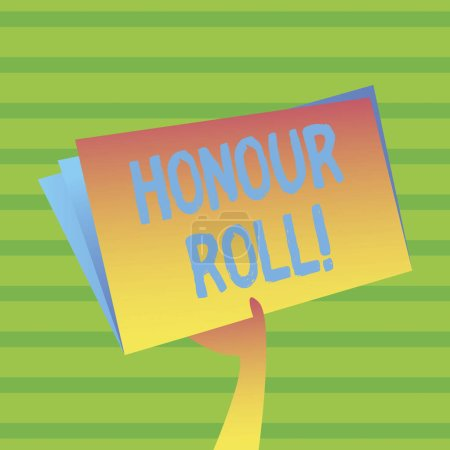 Photo for Word writing text Honour Roll. Business photo showcasing List of students who have earned grades above a specific average - Royalty Free Image