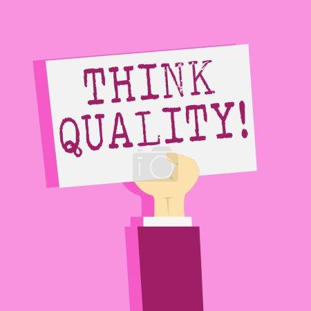 Photo pour Remarque indiquant pense que qualité de l'écriture. Concept d'affaires pour penser de précieuses Solutions réussie des idées innovantes - image libre de droit