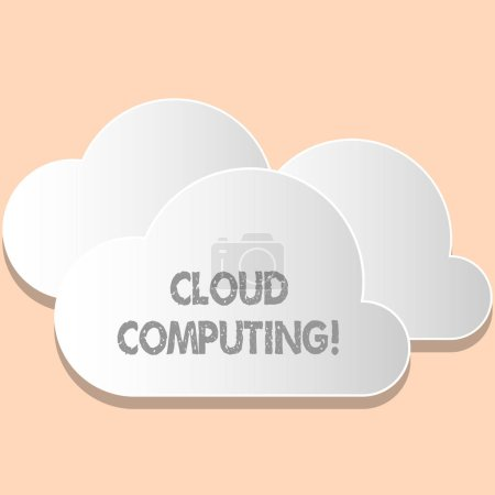 Word writing text Cloud Computing. Business concept for Online Information Storage Virtual Media Data Server.