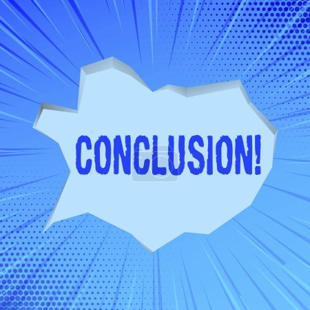 Escribir nota mostrando Conclusión. Muestra de fotos de negocios Análisis de resultados Decisión final Fin de un evento o proceso .