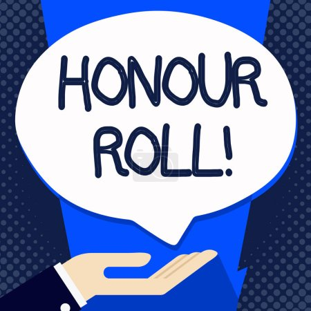Photo for Handwriting text writing Honour Roll. Conceptual photo List of students who have earned grades above a specific average - Royalty Free Image
