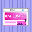 Word writing text Disclosure. Business photo showc...