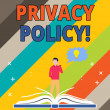 Word writing text Privacy Policy. Business photo s...