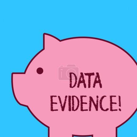 Handwriting text Data Evidence. Conceptual photo r...