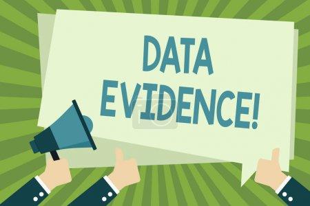 Handwriting text writing Data Evidence. Conceptual...