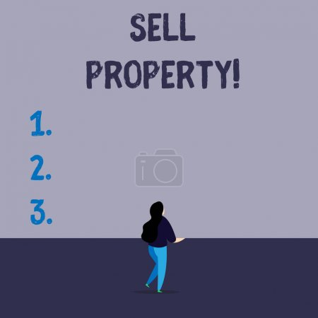 Handwriting text writing Sell Property. Conceptual...