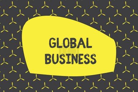 Photo pour Rédaction d'une note montrant Global Business. Concept d'entreprise pour le commerce et le système d'affaires une entreprise qui fait à travers le monde photo motif continu texture géométrique monochrome minimale éoliennes - image libre de droit
