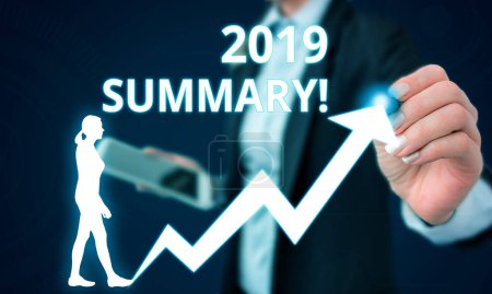 Conceptual hand writing showing 2019 Summary. Conc...