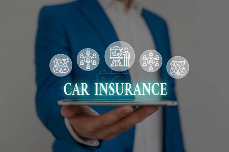Text sign showing Car Insurance. Business photo sh...