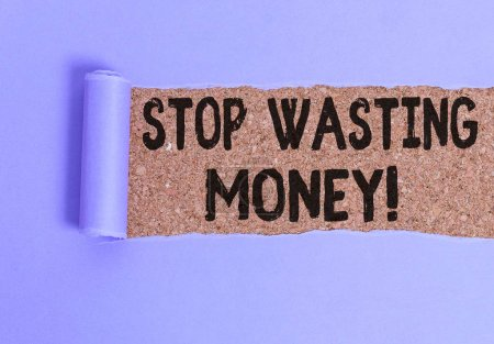 Conceptual hand writing showing Stop Wasting Money...