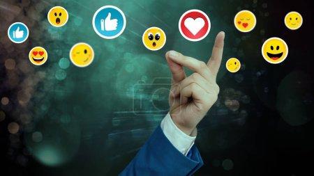 Photo pour Social Media Communication Chat Messages Blank Speech Bubble Flat Icon - image libre de droit
