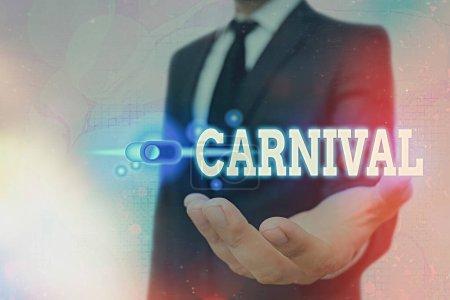 Photo pour Panneau texte montrant le Carnaval. Business photo texte voyage entreprise offrant des divertissements, expositions, etc. Cadenas graphique pour le système d'application de sécurité des données Web - image libre de droit