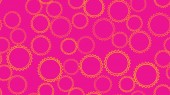 Texture seamless pattern from set of multi-colored simple round abstract carved bubbles circles of geometric shapes of gears with sharp edges on a pink background Vector illustration