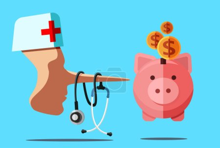 Healthcare fraud and corrupt doctor concept. Disho...