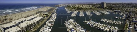 Oceanside Harbor Panoramic. This is a 4 image aerial panoramic of Oceanside, California, USA.