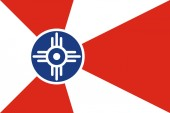 Flag of Wichita, Kansas. United States of America