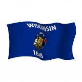 Wisconsin vector flag