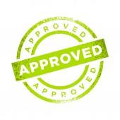 Approved Stamp Green Color Vector Symbol Graphic Logo Design