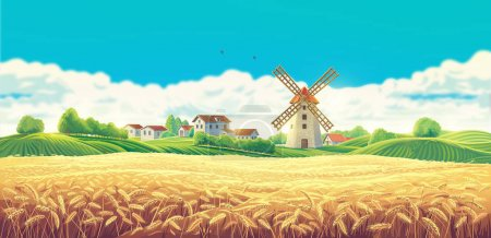 Rural summer landscape with the