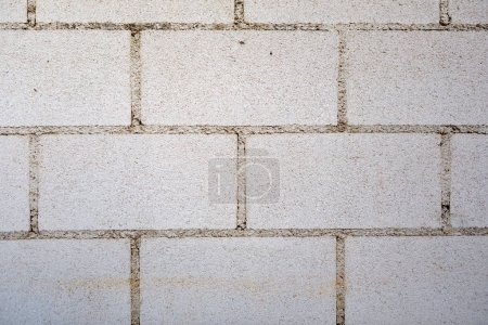 Photo for White wall with cement bricks surface for wallpaper - Royalty Free Image