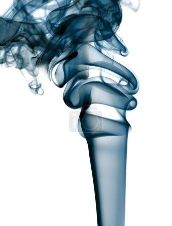 Photo pour Formes abstraites de couleurs obtenues avec la fumée - image libre de droit