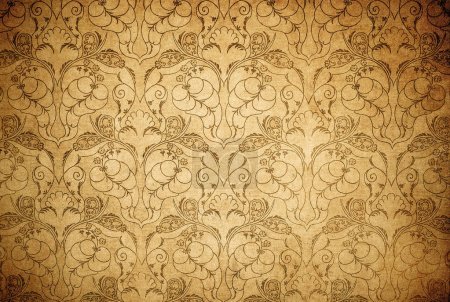 Photo for Highly detailed image of grunge vintage wallpaper - Royalty Free Image
