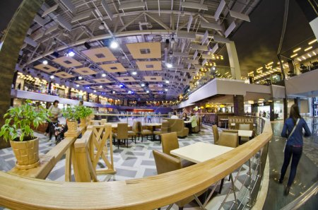Photo for Shopping mall interior design, fish eye photography - Royalty Free Image