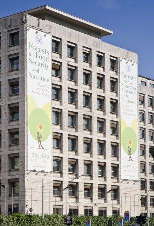 Photo pour Rome - 5 juin: la Food and Agriculture organisation Hq sur 5 juin 2013 - image libre de droit