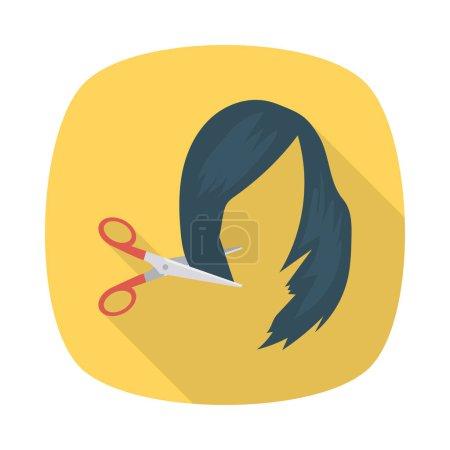 Barbershop color flat icon...