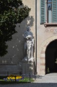 Beautiful Sculpture In The Diocesan Palace Of Verona In Verona. Travel, holidays, architecture. March 30, 2015. Verona, Veneto region, Italy.