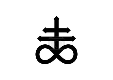 Leviathan Cross alchemical symbol for sulphur, ass...