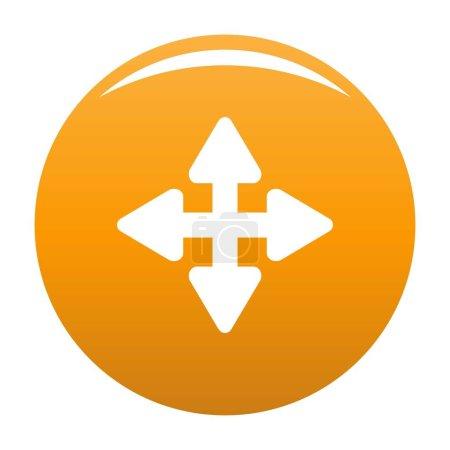 Ilustración de Icono de elemento de desplazamiento de cursor. Ilustración simple de icono de vector de elemento cursor desplazamiento para cualquier diseño naranja - Imagen libre de derechos