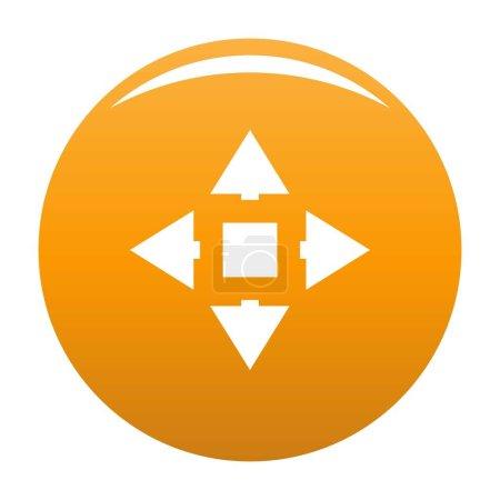 Ilustración de Icono de desplazamiento del cursor. Ilustración simple de icono de vector de desplazamiento de cursor para cualquier diseño naranja - Imagen libre de derechos