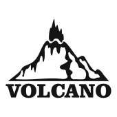 Fire volcano logo simple style