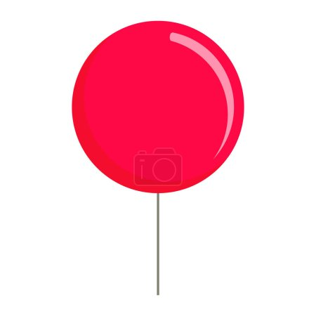 Illustration for Red balloon icon. Flat illustration of red balloon vector icon for web design - Royalty Free Image