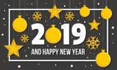 New year concept background flat style