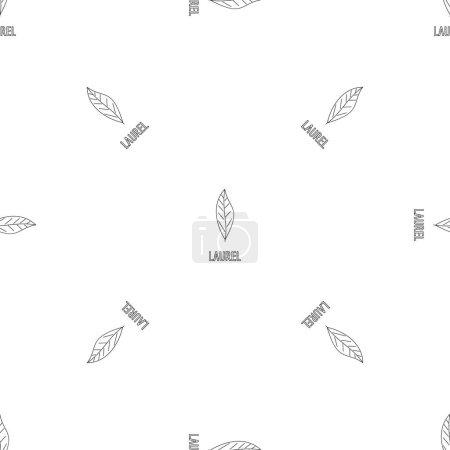 Laurel leaf pattern seamless vector