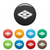 Best cuban cigar icons set color